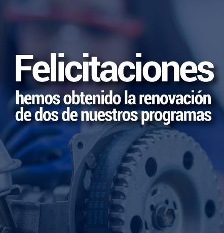 Felicitaciones a los programas Técnicos Laborales en Mecánica automotriz y Mecánica de Motos
